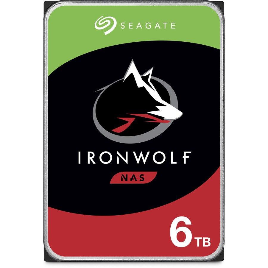"Seagate IronWolf ST6000VN001 6 TB Hard Drive - 3.5"" Internal - SATA (SATA/600) - Conventional Magnetic Recording (CMR) Method"