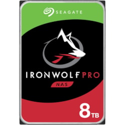 "Seagate IronWolf Pro ST8000NE001 8 TB Hard Drive - 3.5"" Internal - SATA (SATA/600) - Conventional Magnetic Recording (CMR) Method"