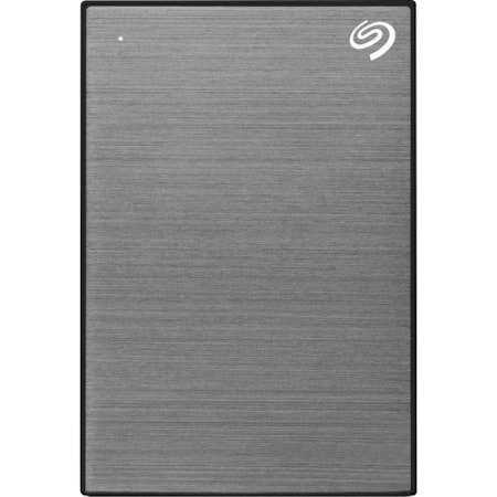 """Seagate One Touch STKB1000404 1 TB Portable Hard Drive - 2.5"""" External - Space Gray"""