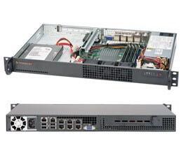 Supermicro SuperServer 5018A-TN7B 1U Rack Server - 1 x Intel Atom C2758 2.40 GHz - Serial ATA/600 Controller