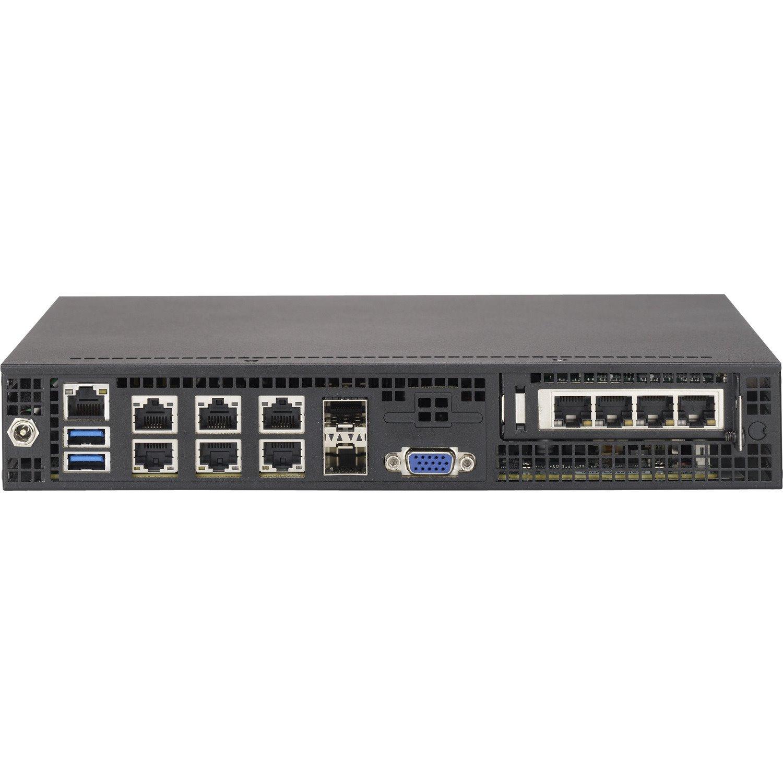 Supermicro SuperServer E300-8D 1U Mini PC Server - 1 x Intel Xeon D-1518 2.20 GHz - Serial ATA/600 Controller