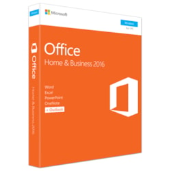 Microsoft Office 2016 Home & Business - 1 PC - Medialess - Word 2016, Excel 2016, PowerPoint 2016, OneNote 2016, and Outlook 2016