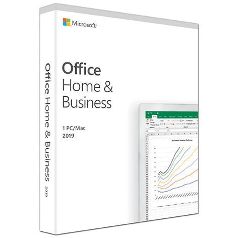 Microsoft Office 2019 Home & Business - Box Pack - 1 PC/Mac
