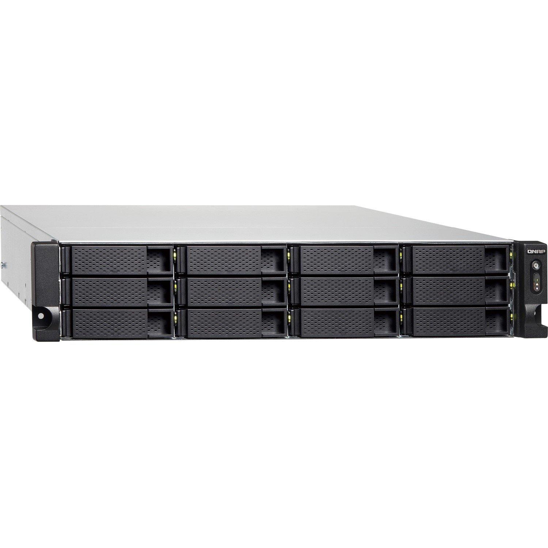 QNAP Turbo NAS TS-1273U-RP 12 x Total Bays SAN/NAS Storage System - 512 MB Flash Memory Capacity - AMD R-Series Quad-core (4 Core) 2.10 GHz - 8 GB RAM - DDR4 SDRAM - 2U Rack-mountable