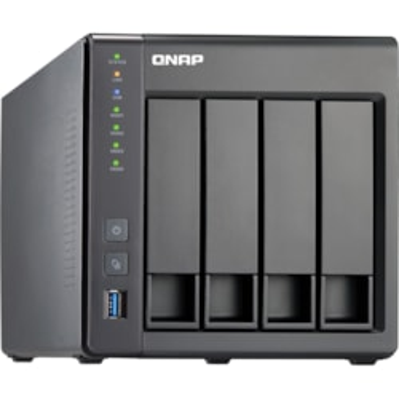 QNAP Turbo NAS TS-451+ 4 x Total Bays NAS Storage System - Intel Celeron 2.41 GHz - 8 GB RAM - DDR3L SDRAM Desktop