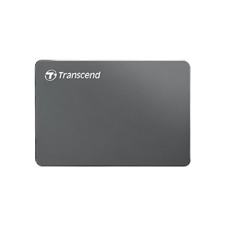 "Transcend StoreJet 25C3 2 TB Portable Hard Drive - 2.5"" External - SATA - Iron Grey"