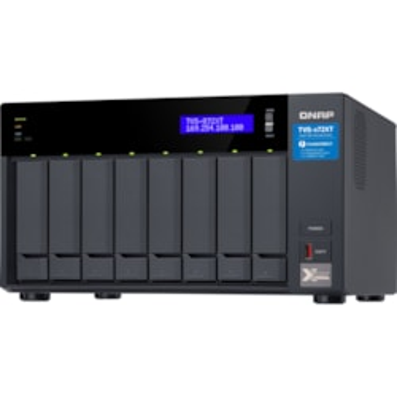 QNAP TVS-872XT-I5-16G 8 x Total Bays SAN/NAS/DAS Storage System - 4 GB Flash Memory Capacity - Intel Core i5 Hexa-core (6 Core) 1.70 GHz - 16 GB RAM - DDR4 SDRAM Tower