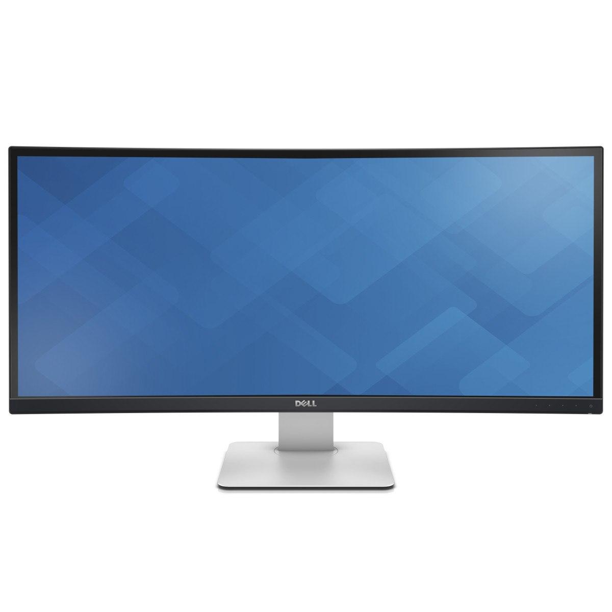 "Dell UltraSharp U3415W 86.4 cm (34"") WQHD Curved Screen LED LCD Monitor - 21:9 - Silver, Black"