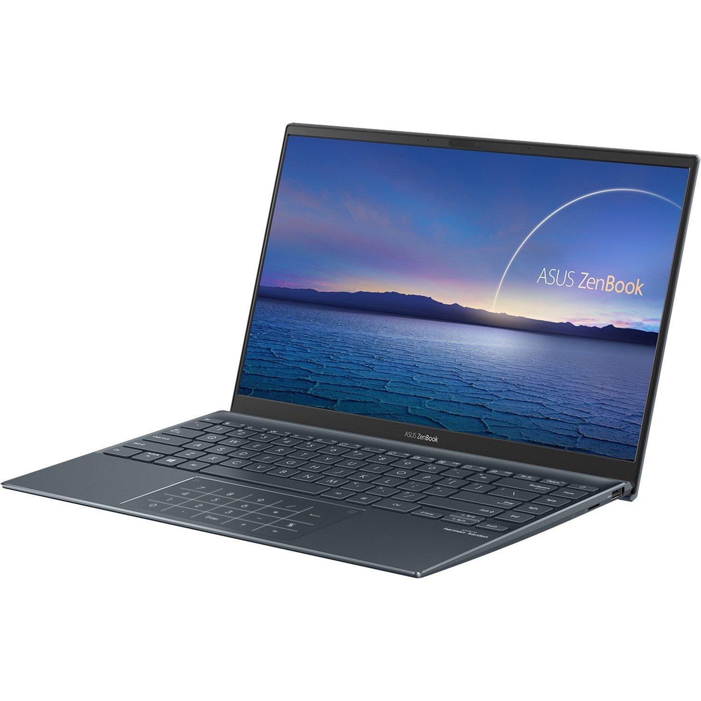 """Asus ZenBook 14 UM425 UM425IA-AM010R 35.6 cm (14"""") Notebook - Full HD - 1920 x 1080 - AMD Ryzen 5 4500U Hexa-core (6 Core) 2.30 GHz - 8 GB RAM - 512 GB SSD - Pine Gray"""