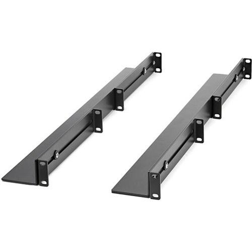 StarTech.com 1U Rack-mountable Rack Rail for LAN Switch, Patch Panel, Server, UPS - Black