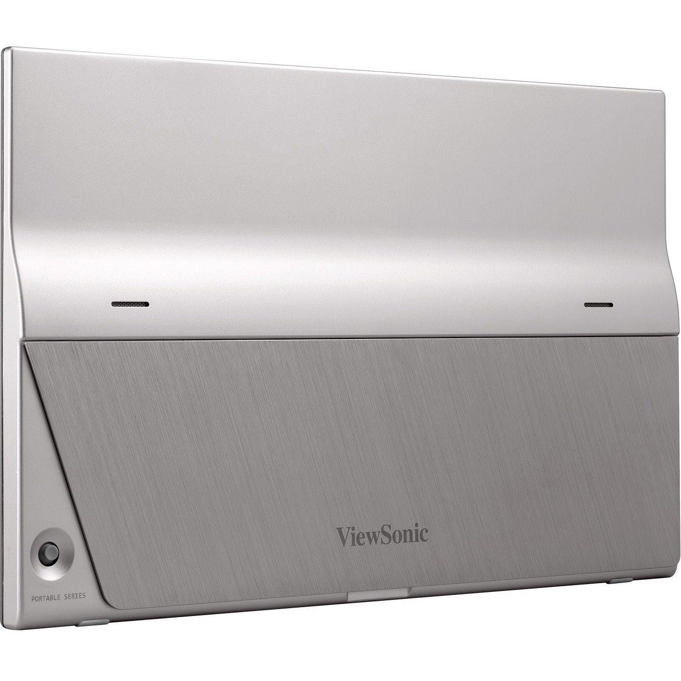 "Viewsonic VG1655 39.6 cm (15.6"") Full HD LED LCD Monitor - 16:9 - Silver"