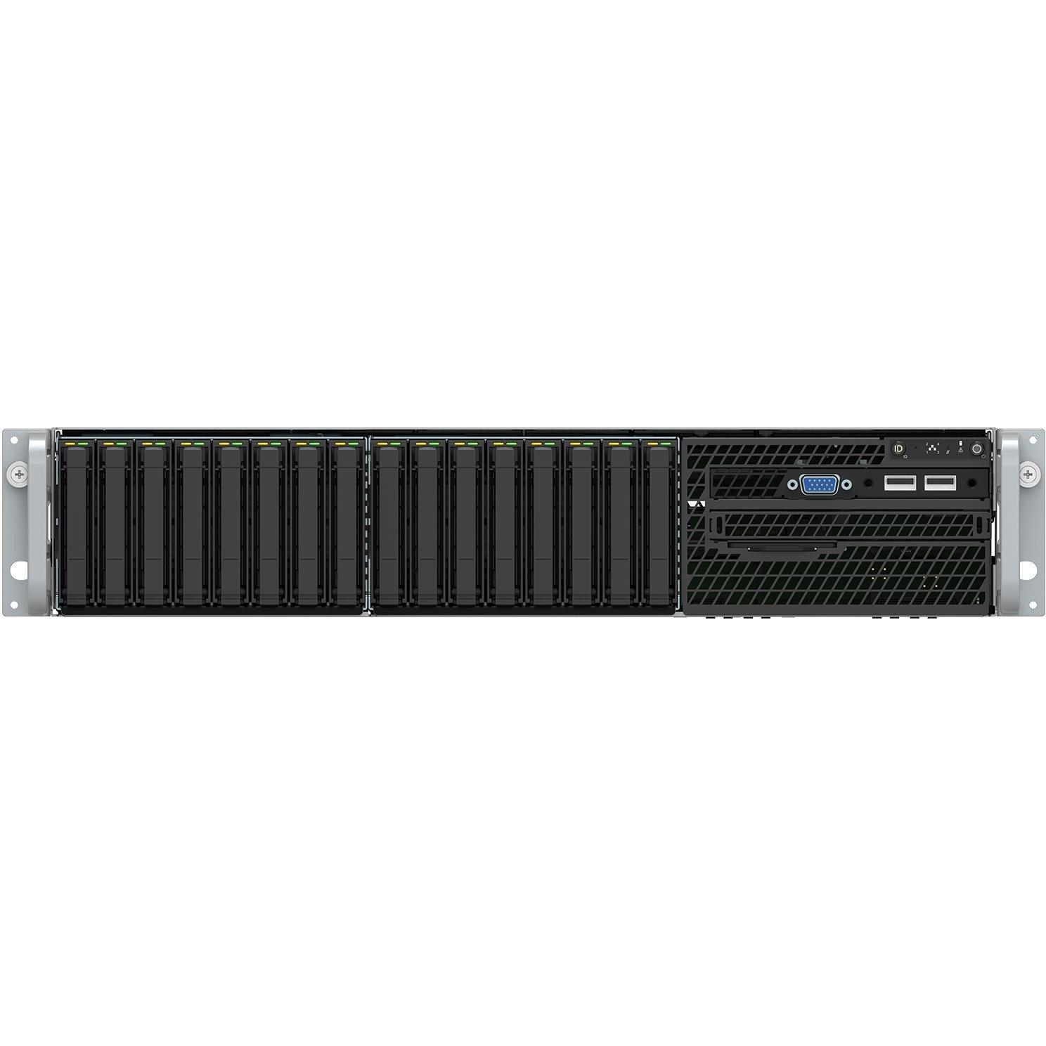 Intel Server System VRN2208WFAF83 2U Rack Server - 1 x Intel Xeon Gold 6152 2.10 GHz - 32 GB RAM HDD - 2 TB SSD - Serial ATA Controller
