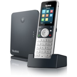 Yealink W53P IP Phone - Cordless - Corded - DECT - Wall Mountable, Desktop - Alabaster Silver, Classic Gray