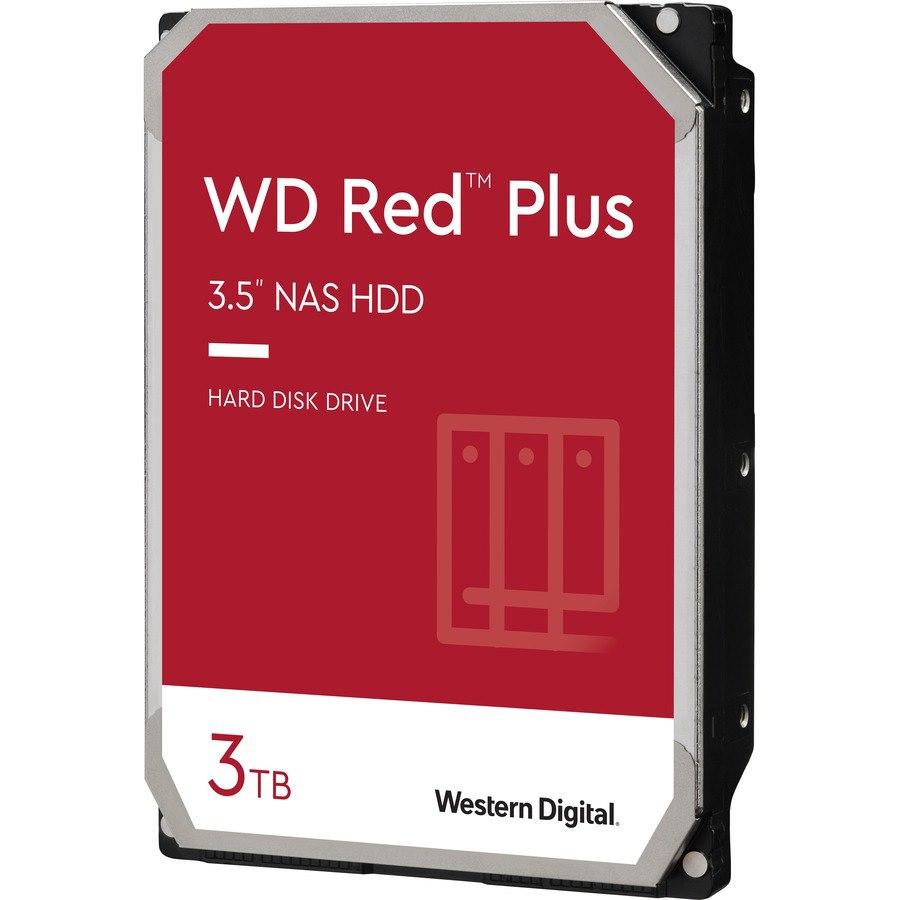 """WD Red Plus WD30EFZX 3 TB Hard Drive - 3.5"""" Internal - SATA (SATA/600)"""