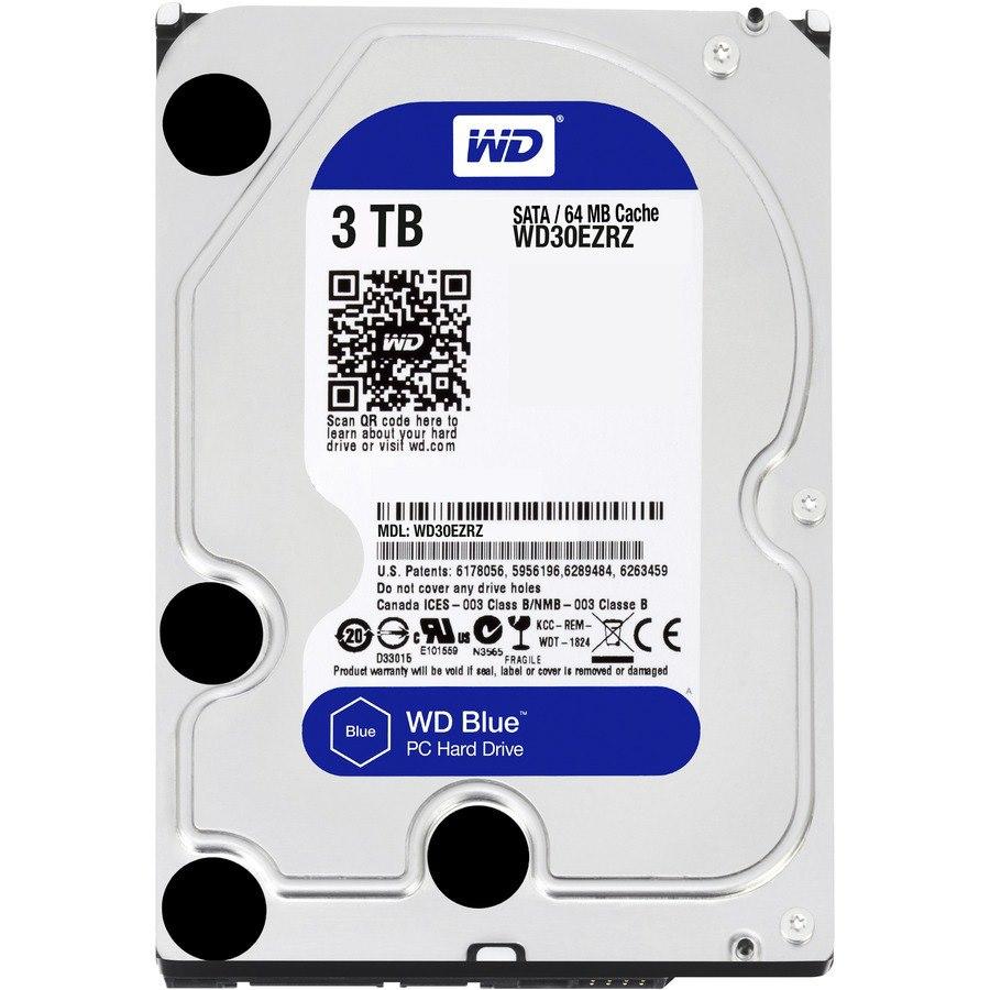 """WD Blue WD30EZRZ 3 TB Hard Drive - 3.5"""" Internal - SATA (SATA/600) - Blue"""