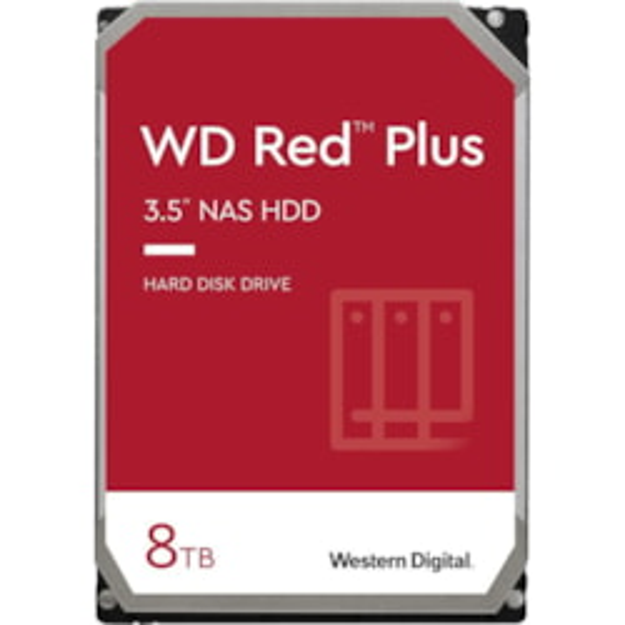 """WD Red Plus WD80EFAX 8 TB Hard Drive - 3.5"""" Internal - SATA (SATA/600)"""