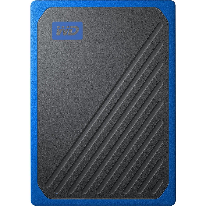WD My Passport Go WDBMCG0020BBT-WESN 2 TB Portable Hard Drive - External - Black, Cobalt