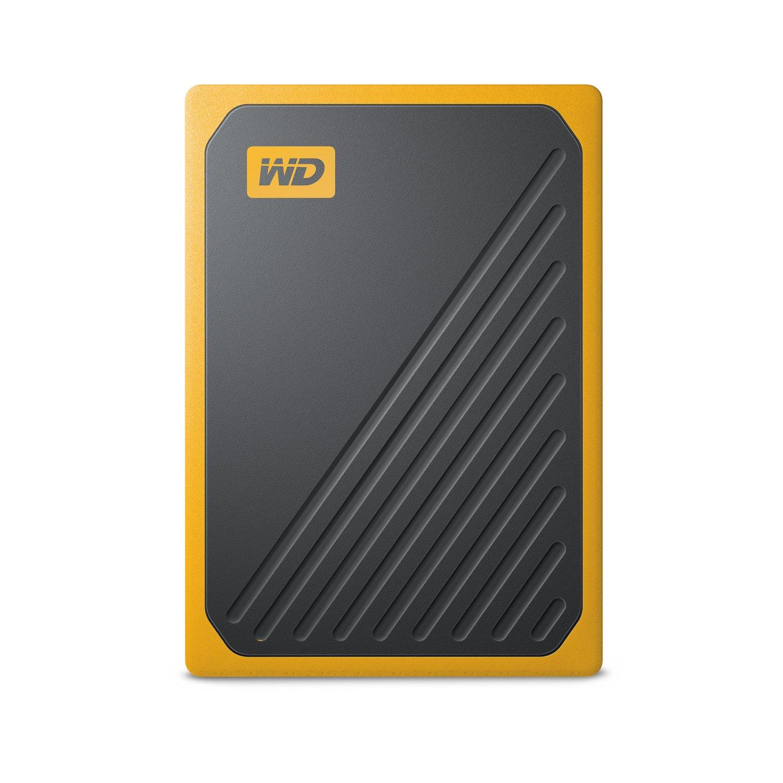 WD My Passport Go WDBMCG0020BYT-WESN 2 TB Portable Hard Drive - External - Black, Amber