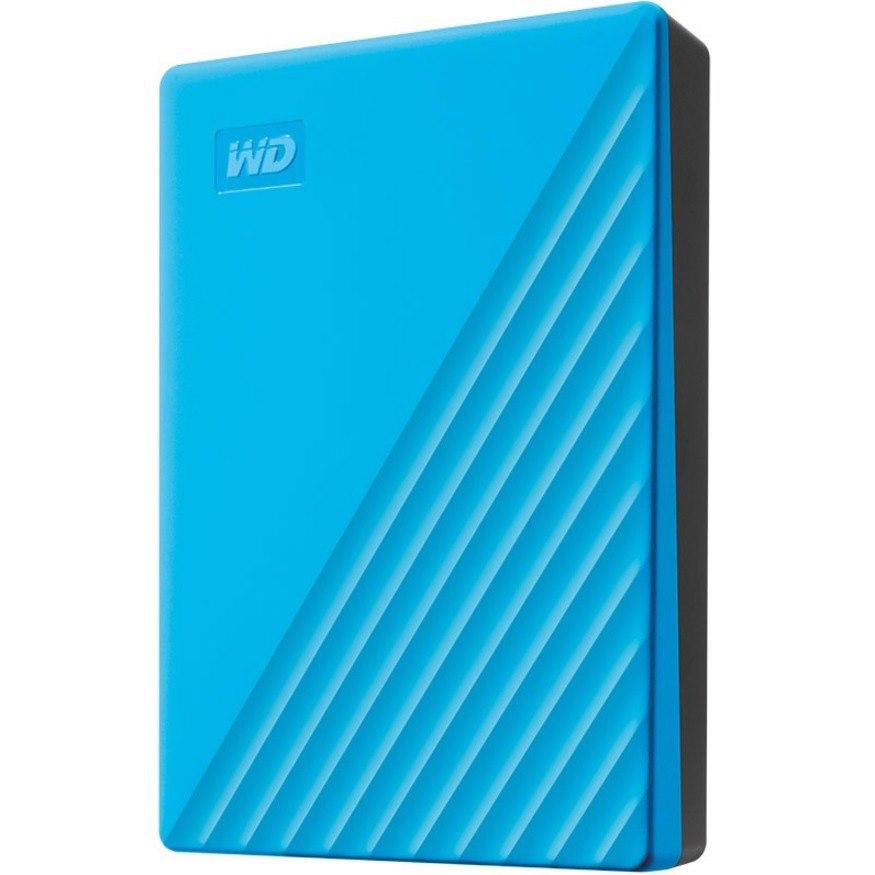 WD My Passport WDBPKJ0040BBL-WESN 4 TB Portable Hard Drive - External - Blue
