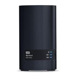 WD My Cloud EX2 Ultra WDBVBZ0040JCH 2 x Total Bays NAS Storage System - Marvell Armada 385 Dual-core (2 Core) 1.30 GHz - 1 GB RAM - DDR3 SDRAM Desktop