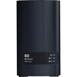 WD My Cloud EX2 Ultra WDBVBZ0120JCH 2 x Total Bays NAS Storage System - Marvell Armada 385 Dual-core (2 Core) 1.30 GHz - 1 GB RAM - DDR3 SDRAM Desktop