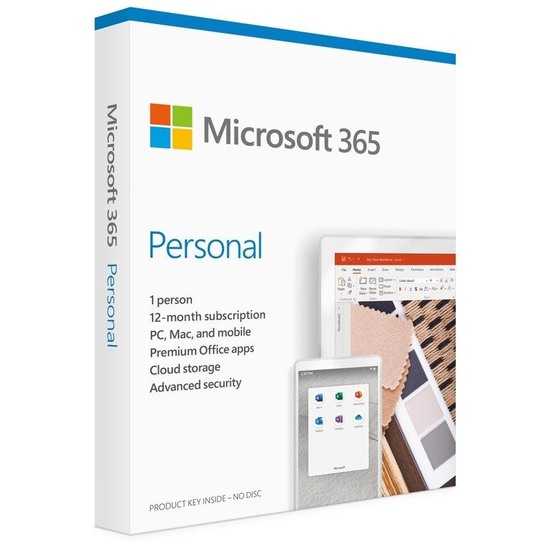 Microsoft Micrsoft QQ2-00982 Office 365 Personal Win/Mac, Retail Box, 1 User, 1 Year Subscription