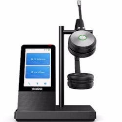 Yealink Uc Dect Stereo Wireless Headset, Yealink Acoustic Shield Technology, Uc Button, 1X Usb 3.0 And 2X Usb 2.0 Ports, Speakerphone, Bluetooth, 4'' Touch Screen, 2.5MM Jack For Optional Busy Light B