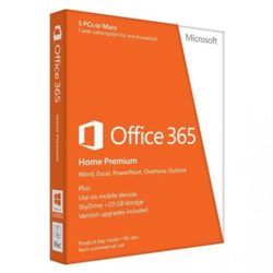 Microsoft Office 365 Home 32/64-bit - Subscription - 5 Licence - 1 Year