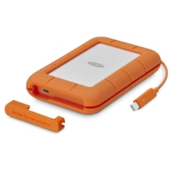 """LaCie Rugged Thunderbolt &Amp; Usb-C Portable Drive 2.5"""" / 4TB / Thunderbolt &Amp; Usb-C / 3Yr Warranty + 3 Year Data Rescue Service Included!"""