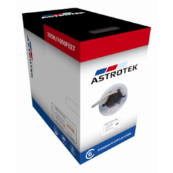 Astrotek Cat6 FTP Cable 305M Roll - Grey White Full 0.55MM Copper Solid Wire Ethernet Lan Network 23Awg 0.55Cu Solid 2X4P PVC Jacket