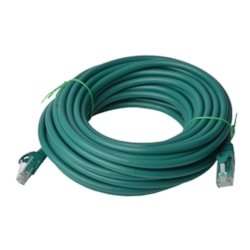 8Ware Cat6a Utp Ethernet Cable 30M SnaglessGreen