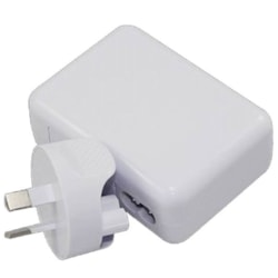 Astrotek Usb Travel Wall Charger Power Adapter Au Plug 2A 220V 2 Ports White Colour For Samsung & Usb Devices ~Cbat-Usb-Pwr