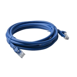 8Ware Cat6a Utp Ethernet Cable 5M SnaglessBlue