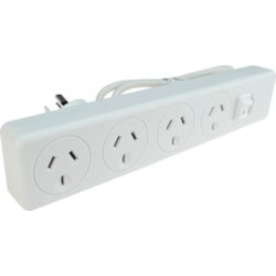 Jackson 4 Outlet Surge Protected Powerboard W/ Master Switch