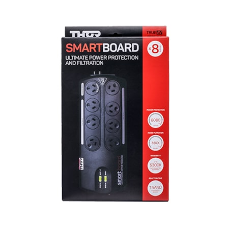 Thor 8 Outlet Smart Board Ultimate Surge Protected Power Board