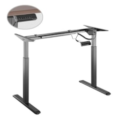 Brateck 2-Stage Single Motor Electric Sit-Stand Desk Frame With Button Control Panel-Black Colour (Frame Only); Requires TP18075 For The Board