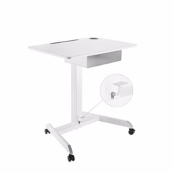Brateck Height Adjustable Mobile Workstation With Drawer