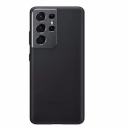 Samsung Galaxy S21 Ultra Leather Cover Black