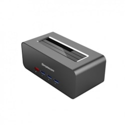 Simplecom SD351 Usb 3.0 To Sata Aluminium Docking Station With 3-Port Hub And 1 Port 2.1A Usb Charger