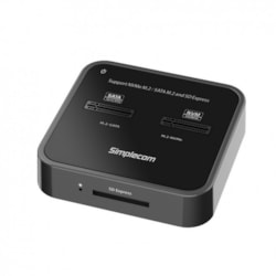 Simplecom SD530 Usb 3.2 Gen2 To NVMe + Sata M.2 SSD Dual Bay Docking Station With SD Express Card Reader