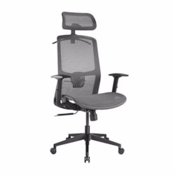 Brateck Ergonomic Mesh Office Chair With Headrest (655X675X1165-1265MM) Up To 150KG - Steel Mesh