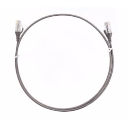 8Ware Cat6 Ultra Thin Slim Cable 2M / 200CM - Grey Color Premium RJ45 Ethernet Network Lan Utp Patch Cord 26Awg For Data Only, Not PoE