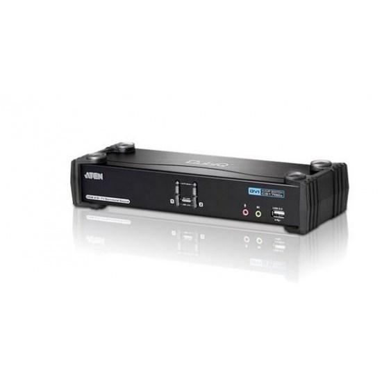 Aten 2 Port Usb 2.0 Dvi Dual Link KVMP Switch. Support HDCP, Video DynaSync, Dual Link, 7.1 Audio, Mouse Emulation, Keyboard Emulation