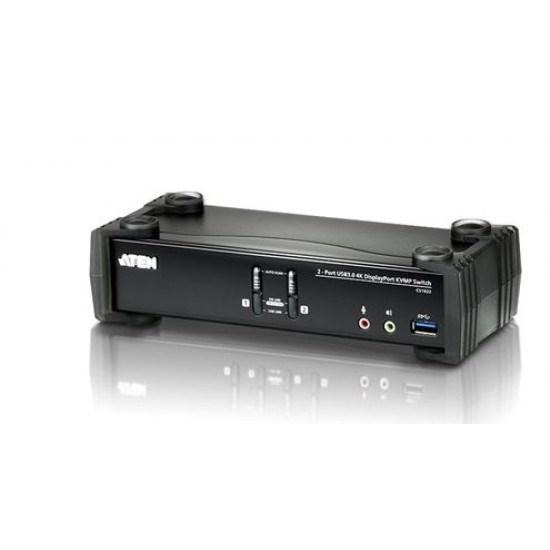 Aten 2 Port Usb 3.0 4K DisplayPort KVMP Switch Support HDCP, 4096 X 2160 @ 60Hz, DP 1.2, Mouse Emulation, Keyboard Emulation