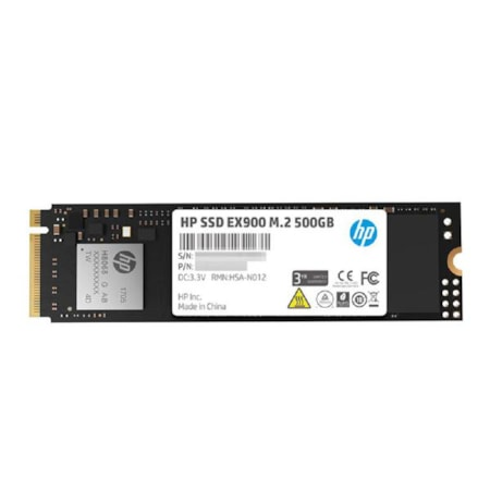 HP SSD Ex900 M.2 NVMe 500GB, 3D TLC With HP Controller H8038 And 2100/1500 Max R/W