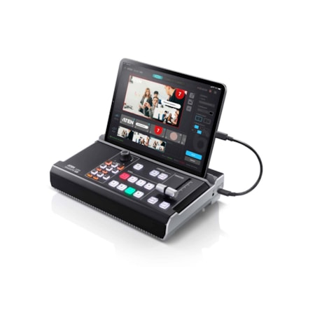 Aten StreamLIVE Pro Multi-Channel Av Mixer. Preset Up To 8 Scenes, Dve Video Transition Effects, A Storyboard Like Management For Pro Style Programming