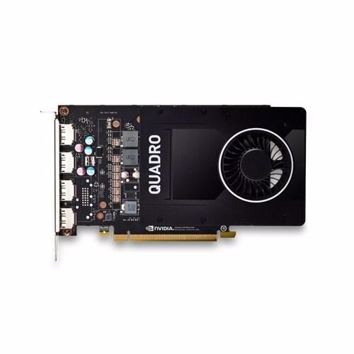 Leader nVidia Quadro P2200 PCIe Workstation Card 5GB DDR5X 4xDP 1.4 4x5120x2880@60Hz 160-Bit 200GB/s 1280 Cuda Core Single Slot Asus System Build