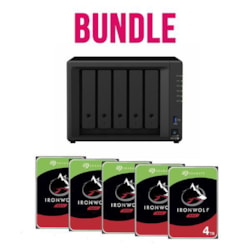 Synology Bundle - DS1520+ X 1 Nas + Seagate Ironwolf 4TB HDDs X 5