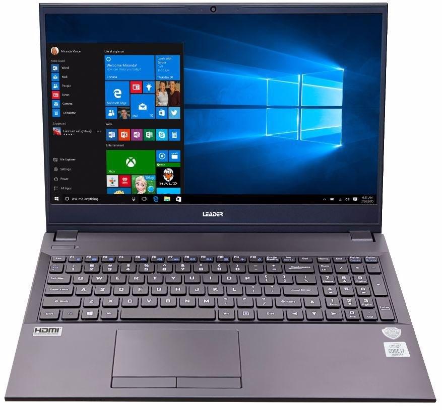 Leader Companion 516 Notebook, 15.6' Full HD, I7-10510U , 16GB, 500GB SSD, DVD, Windows 10 Home, 2YR Warranty, TPM, Wi-Fi 6, Usb Type C, W10H