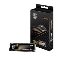 Msi 1TB M480 PCIe 4.0 NVMe M.2 SSD, Sequential Read Up To 7000MB/s, Sequential Write 5500MB/s, 700 TBW, 5 Year Warranty